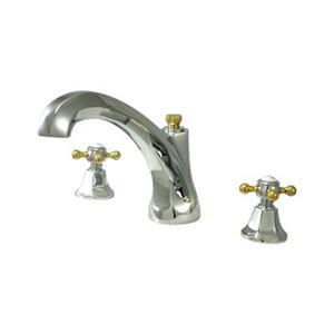 Elements of Design New York 8-in Chrome/Polished Brass Widespread Roman Tub Filler