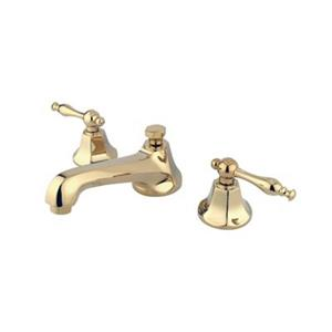 Elements of Design New York Polished Brass Widespread Faucet