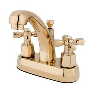 Elements of Design Metropolitan Polished Brass Centerset Faucet