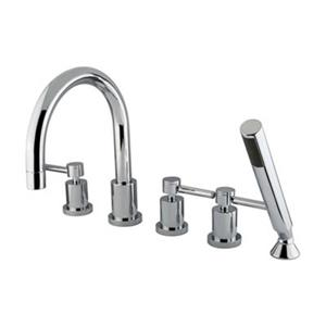 Elements of Design 8.5-in Chrome 5-Piece Roman Tub Filler with Hand Shower
