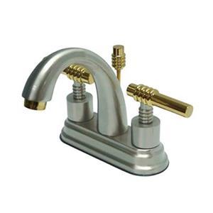 Elements of Design Oil Rubbed Chrome/Brass Deck Centerset Faucet