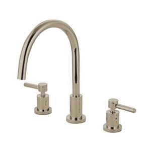 Elements of Design Lever Handle Widespread Nickel Kitchen Faucet
