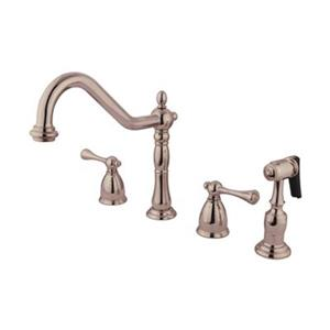 English Country Deck Two Handle Kitchen Faucet