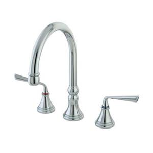 Elements of Design Silver Sage Two Handle Kitchen Faucet,ES2