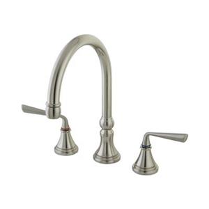 Elements of Design Silver Sage Satin Nickel Two Handle Kitchen Faucet