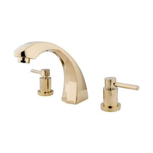 Elements of Design Concord 7.50-in Polished Brass Roman Tub Filler