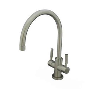 Elements of Design Nickel Concord Twin Handle Vessel Sink Faucet