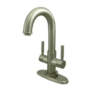 Elements of Design Nickel Concord Twin Lever Handle Centerset Faucet