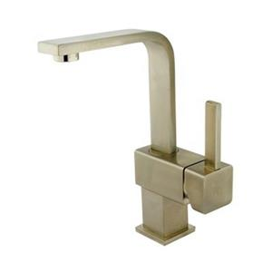 Elements of Design Nickel Claremont Square Single Hole Faucet