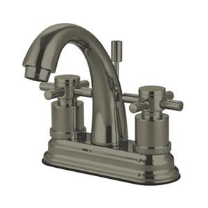 Elements of Design Nickel Concord 2-Handle Centerset Faucet