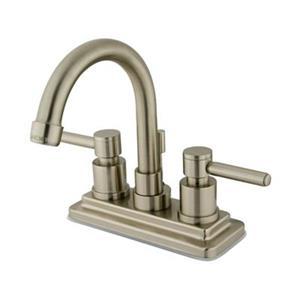 Elements of Design Nickel Concord 2-Handle Centerset Faucet