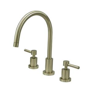 Elements of  Design Concord 11.50-in Satin Nickel Widespread  Handle Kitchen Faucet