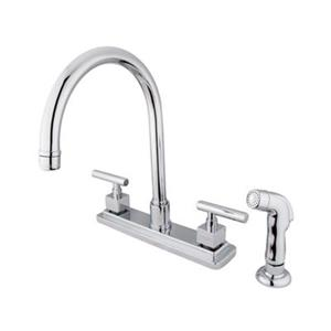 Elements of  Design Claremont 12.5-in Chrome Two Handle Kitchen Faucet with Sprayer