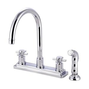 Elements of  Design Concord 12.5-in Chrome Cross Handle Kitchen Faucet with Sprayer