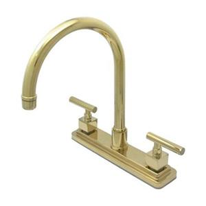 Elements of  Design Claremont 12.5-in Polished Brass Two Handle Kitchen Faucet