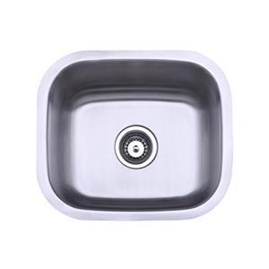 Elements of Design Gourmetier 17.94-in x 15.63-in Brushed Nickel Undermount Kitchen Sink