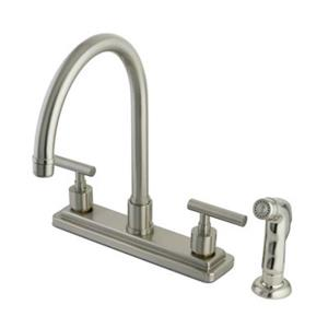 Elements of  Design Manhattan 12.50-in Satin Nickel Two Handle Kitchen Faucet with Sprayer