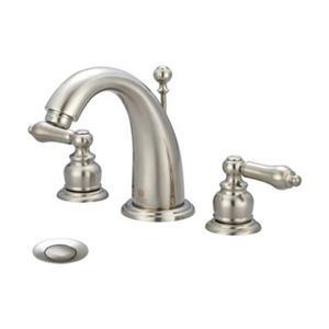 Pioneer Industries Brentwood Brushed Nickel Two Handle Widespread Faucet