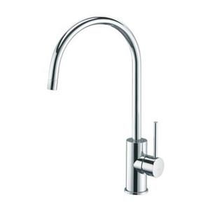 WS Bath Collections 14.30 -in Chrome Light Sink Mixer Single Handle Kitchen Faucet