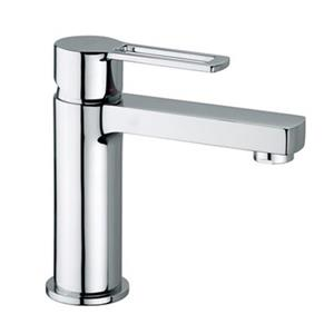 WS Bath Collections Ringo Polished Chrome Lever Washbasin Mixer Without Waste Single Hole Faucet