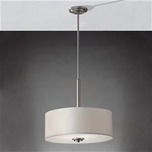 Feiss Kincaid Brushed Steel 3 Light large Pendant