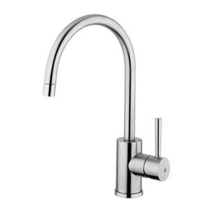 WS Bath Collections Steel Single Lever Kitchen Faucet with Swivel Spout