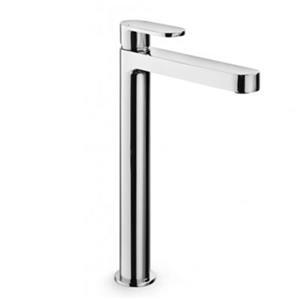 WS Bath Collections Muci Brass Linea Single Lever High Spout Bathroom Faucet