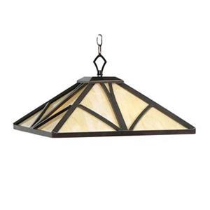 RAM Game Room Products 18-in x 10-in Chestnut Chateau Pendant Light
