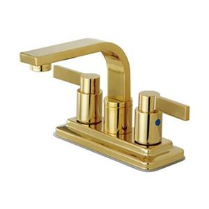 Elements of Design NuvoFusion Polished Brass Euro High Rise Spout Centerset Faucet