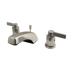 NuVoFusion Widespread Lavatory Faucet with Brass Pop-Up