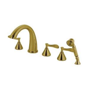 Elements of Design Century Polished Brass RomanTub Filler