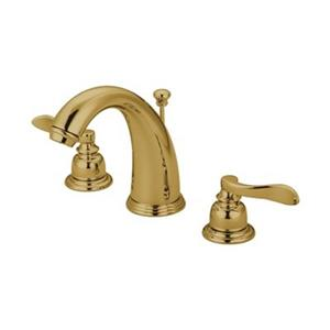 Elements of Design NuWave Polished Brass French Widespread Faucet