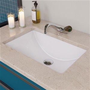 ALFI Brand Polished Chrome Wave Single Lever Bathroom Faucet