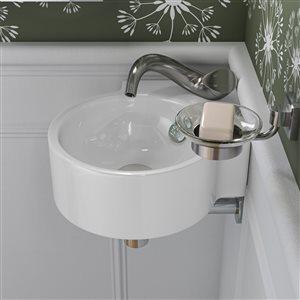 ALFI Brand Brushed Nickel Wave Single Lever Bathroom Faucet