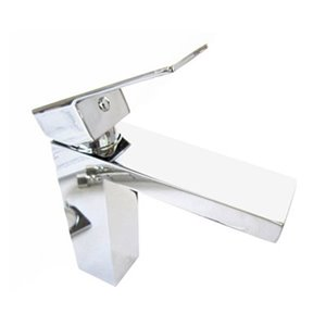 ALFI Brand Polished Chrome Square Single Lever Bathroom Faucet