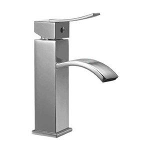 ALFI Brand Polished Chrome Square Body Single Lever Bathroom Faucet