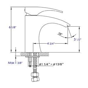 ALFI Brand Polished Chrome Single Lever Bathroom Faucet