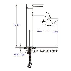 ALFI Brand Polished Chrome Tall Single Lever Bathroom Faucet