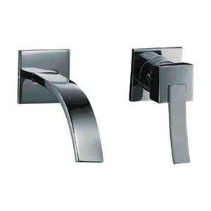 ALFI Brand Polished Chrome Single Lever Wall Mount Bathroom Faucet