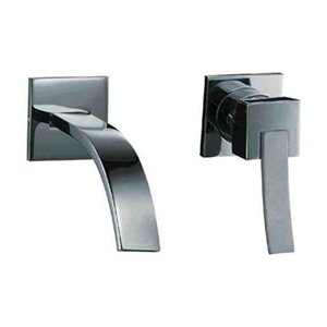 Single Lever Wall Mount Bathroom Faucet