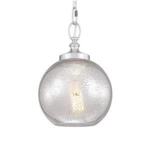 Feiss Tabby Polished Nickel 1-Light Pendant Light