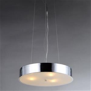 Warehouse of Tiffany Modern Chrome Large Pendant Light
