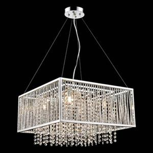 Design Living YS Series  Chrome 5 Light Large Crystal Pendant
