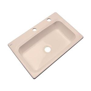 Dekor Ridgebrook 33-in x 22-in Peach Bisque Single Bowl Kitchen Sink