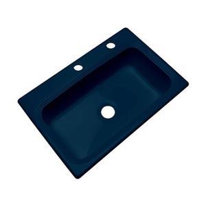 Dekor Ridgebrook 33-in x 22-in Navy Blue Single Bowl Kitchen Sink