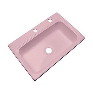 Dekor Ridgebrook 33-in x 22-in Dusty  Rose Single Bowl Kitchen Sink
