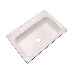 Dekor Ridgebrook 33-in x 22-in Bone Single Bowl Kitchen Sink