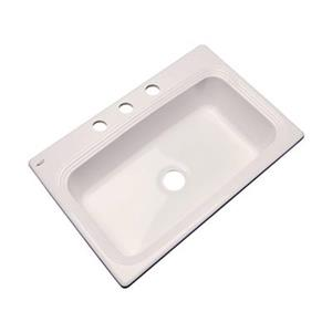 Dekor Ridgebrook 33-in x 22-in Almond Single Bowl Kitchen Sink
