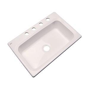 Dekor Ridgebrook 33-in x22-in Bone Single Bowl Kitchen Sink