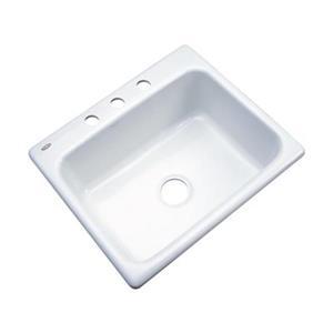 Dekor Princeton 25-in x 22-in White Kitchen Sink